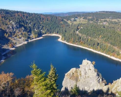 Lac Blanc in de Vogezen bij Sportherberg